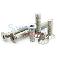 50pcs M3/M4/M5/M6 Length 6-70mm 304 Stainless Steel Hex Socket Countersunk Screw