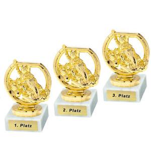 3 GoKart-Pokale mit 1.2.und 3.Platz oder Wunschgravur (P0202)
