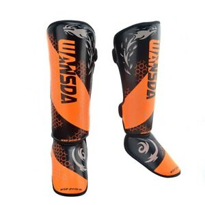 MMA Boxing Shin Guards Ankle Support Men Women Kickboxing Equipment Protectors