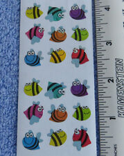 Sandylion BEES, COLORFUL Strip of 2 Sqs RETIRED Prism Mini Stickers LIMITED