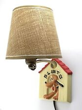 Vintage Pluto The Dog Wall Hanging Lamp With Shade Disney Style Working P338