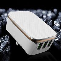 Aluminum 3-Port USB 3.4A Wall Home Travel AC Fast Charger Adapter US/EU/AU/UK Wd