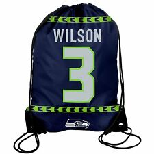 Russell Wilson #3 Seattle Seahawks Jersey Drawstring Backpack / Bag