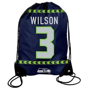 Russell Wilson #3 Seattle Seahawks - Drawstring Bag - Backpack - Gym Bag