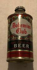 BOHEMIAN CLUB LAGER BEER 12 OZ CONE TOP BEER CAN  IRTP - SPOKANE, WASHINGTON