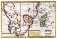 MAP ANTIQUE 1780 BONNE MOZAMBIQUE CHANNEL OLD LARGE REPLICA POSTER PRINT PAM0230