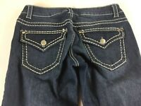 Paisley Sky Jeans Womens 4 Dark Skinny Bling Stones Denim 31 x 31 Actual Pants