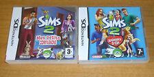 2 jeux nintendo DS - Les SIMS 2 animaux et cie + mes petits compagnons  / 3DS XL