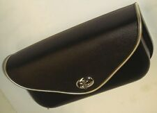 49-84 FLH Panhead Shovelhead Windshield Pouch With Silver or Gold Edge Trim.
