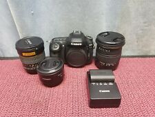 CANON EOS 80D(W) DIGITAL SLR CAMERA W/ 3 LENSES AND ONE BATTERY