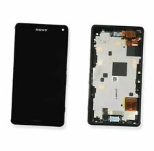 DISPLAY LCD VETRO TOUCH SCREEN FRAME ORIGINALE SONY XPERIA Z3 COMPACT D5803 NERO