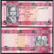SOUTH SUDAN  5 Pounds 2015 UNC P 11 a