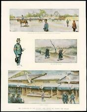 1891 - Antique Print JAPAN Army Mikado Majesty Handa Nagova  (290)