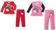 NWT baby toddler girl Hello Kitty 2pc outfit set red pink dots 1 2 years PICK