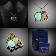 Runde Modeschmuck-Halsketten & -Anhänger mit Elefanten-Motiv
