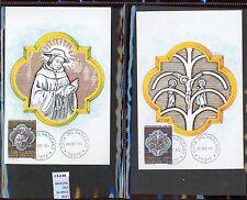 STAMPS 2 CARD MAXIMUN VATICAN CITY POPE (L7290)