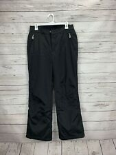 Bogner Solid Black Snow Ski Pants Boys Size 10 Nylon Blend