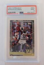 1992 TOPPS GOLD SHAQUILLE O'NEAL # 362 ROOKIE PSA 9 MINT!! HO