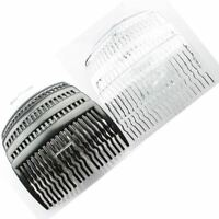 Pack of 4 x 8cm Plain Hair Combs Side Combs Slides in Black or Clear