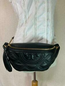 NEW Tory Burch Black Fleming Belt Bag/Fanny Pack $328