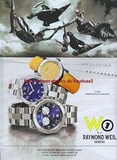 Raymond Weil W1 Watch 1999 Magazine Advert #4266