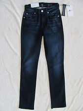 7 for all Mankind Kimmie Straight Slim Illusion Jeans-Dark Wash-Size 23-NWT $178