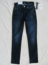 7 for All Mankind Kimmie Straight Slim Illusion Jeans-dark Wash-size 25-