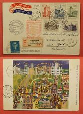 1951 NETHERLANDS SPECIAL FLIGHT 60 YEARS OF PROGRESS EINDHOVEN REGISTERED PC