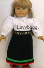 Swedish Winter Dress for Kirsten 18 inch American Girl Doll Clothes Most Variety