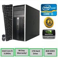 FAST HP Gaming PC Desktop - Fortnite 60+ FPS, NVIDIA GTX 1050 Ti, 8GB RAM, 1TB