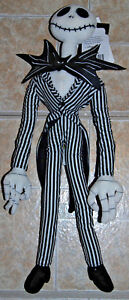 "Jack Skellington plush Nightmare Before Christmas poseable doll 18"" WDW parks"
