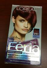 L'Oreal Paris Feria Hair Color, Power Violet, intense medium violet v48