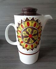 Vintage 1970's JOHNSON BROTHERS Retro Coffee Pot