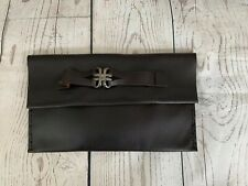 Leather Clutch Made In Spain Hand Holder Ornament Unique Hand Made NWOT