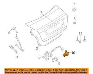 FORD OEM Trunk-Lock Cylinder 6E5Z5443262B