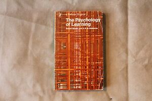 The Psychology of Learning Roger Borger & A.E.M. Seaborne - Pelican Books