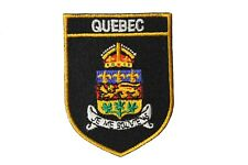 QUEBEC Black Shield CANADA Provincial FLAG Iron-On PATCH CREST BADGE..New