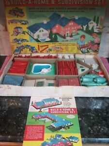 Vintage Rare Kenner 1962 Girder & Panel Build-A-Home & Subdivision Set#16