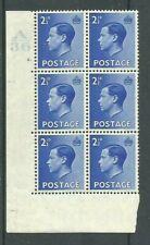 1936, Sg460, P4, 2½d Bright blue, A36 / 2 dot, Mm, (02831)