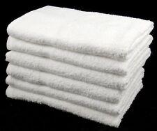 Gros blanc bon marché serviettes budget qualité 100% coton 320 gsm 72 pcs