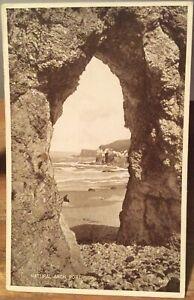 Irish Postcard Natural Arch PORTRUSH Antrim Northern Ireland Valentine Carbotone