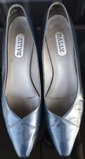 BALLY Womens Career Navy Leather Pumps Pointed Toe Size 8.5