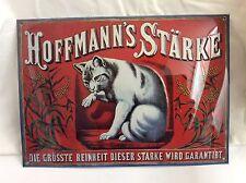 Blech Schild 25x35cm Hoffmann's Stärke Katze Metal Sign