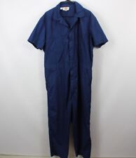 Vintage 80s Dickies Mens 46 Long Coveralls Short Sleeve Jumpsuit Navy Blue