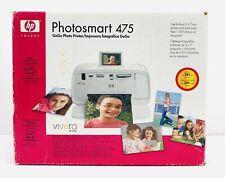 HP Photosmart 475 GoGo Photo Printer Brand New Sealed Q7011A Prints 5x7 & 4x6