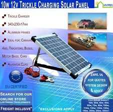 10W 12V SOLAR PANEL 2 amp TRICKLE CHARGER with USB Free Freight CAMPING RV 4WD