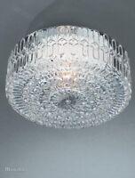Massive Porch/Bathroom IRINA Flush Ceiling Light - Patterned Glass E27 Lamp