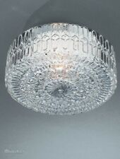 Massive Porch/Bathroom IRINA Flush Ceiling Light - Patterned Glass E27 Lamp
