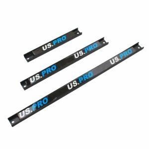US PRO Tools 3PC Magnetic Tool Bar Holder Storage Racks Socket Rail 6733 NEW