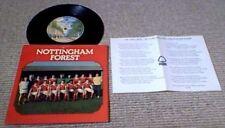 "NOTTINGHAM FOREST ENGLAND SCOTLAND FC UK PS 7"" 45's BRIAN CLOUGH FOOTBALL SOCCER"